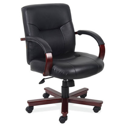 Picture of Executive Mid Back Swivel Tilt with Mahogany Frame
