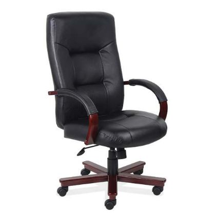 Picture of Executive High Back Swivel Tilt with Mahogany Frame