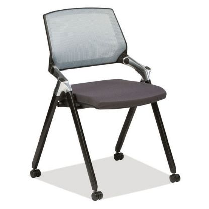 Picture of Armless Flex Back Nesting Chair (Gray/Black)