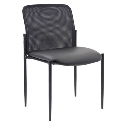 Picture of Armless Side Chair with Black Frame