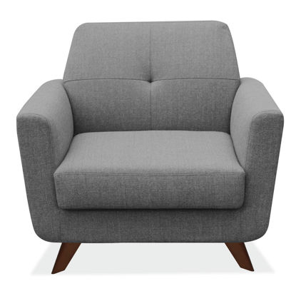 Picture of Club Chair with Dark Cherry Wood Legs