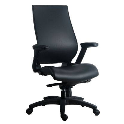 Picture of Flip Arm, Executive High Back With Black Frame