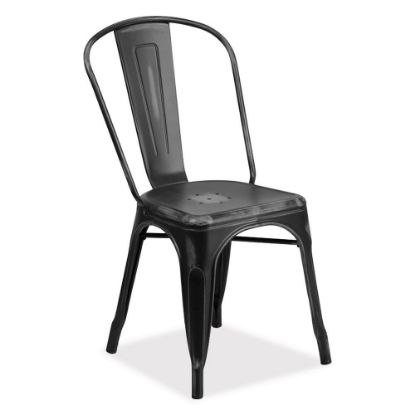 Picture of Indoor/Outdoor Distressed Dining Stack Chair (Black)