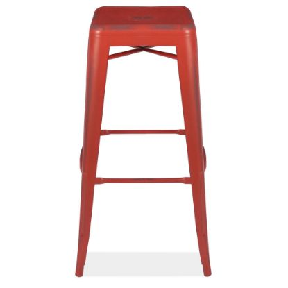 Picture of 30''H Backless Indoor/Outdoor Distressed Bar Stool (Red)