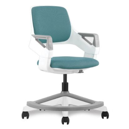 Picture of Children's Chair with White Frame and Footring (Blue/White)