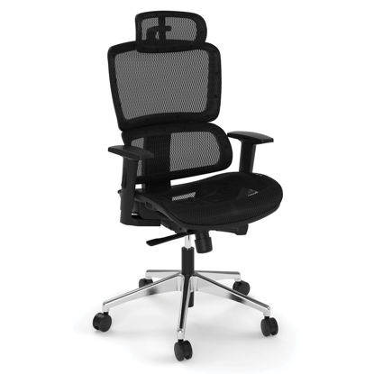 Picture of All Mesh High Back Chair with Headrest and Aluminum Base