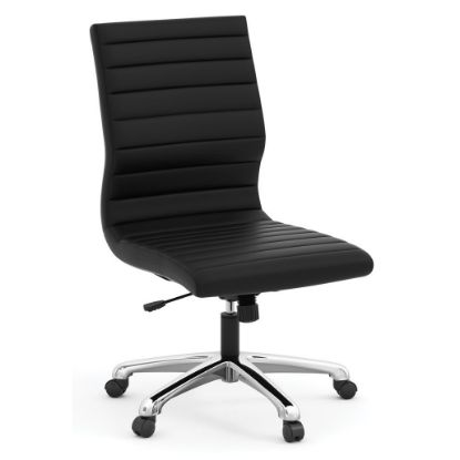Picture of Armless Executive Mid Back Chair with Chrome Frame (Black)