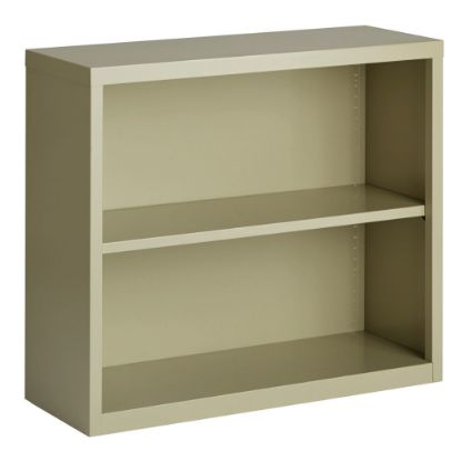 Picture of 2 Shelf Metal Bookcase, 30'' High (Beige)