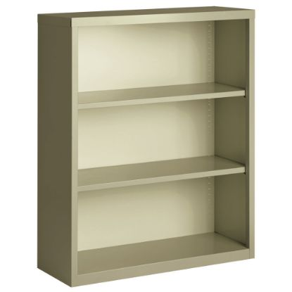 Picture of 3 Shelf Metal Bookcase, 42'' High (Beige)