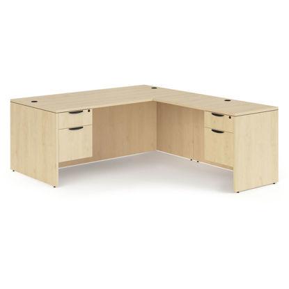 """Picture of Double 3/4 Pedestal """"L"""" Desk - 66"""" x 30"""""""