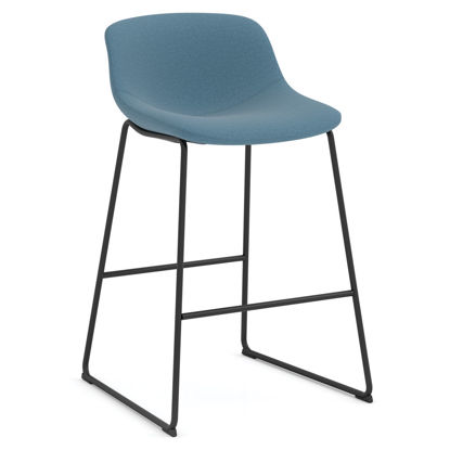 Picture of Café Height Bistro Stoolwith Black Sled Base