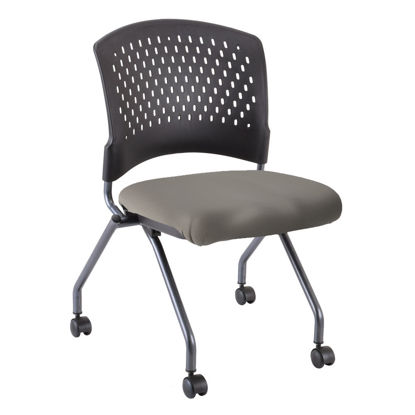 Picture of Armless Nesting Chair with Casters, Titanium Frame
