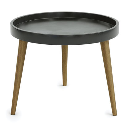"""Picture of Plastic Round Table Top with 14"""" Wood Legs"""