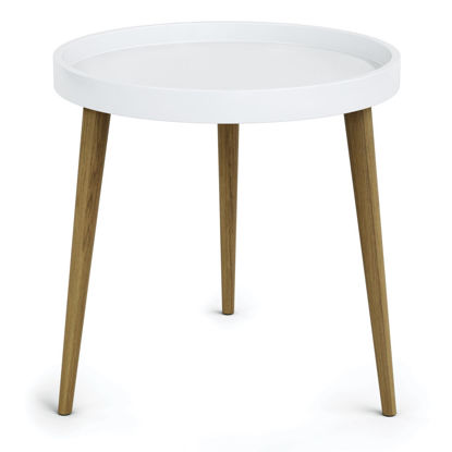 """Picture of Plastic Round Table Top with 17"""" Wood Legs"""