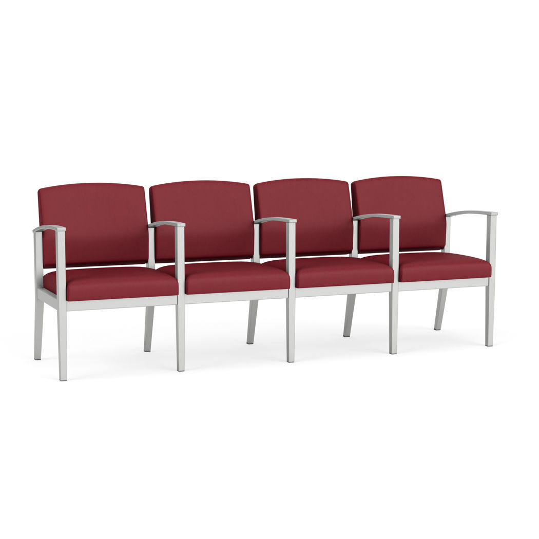 Picture of Amherst Steel 4 Seater with Center Arms
