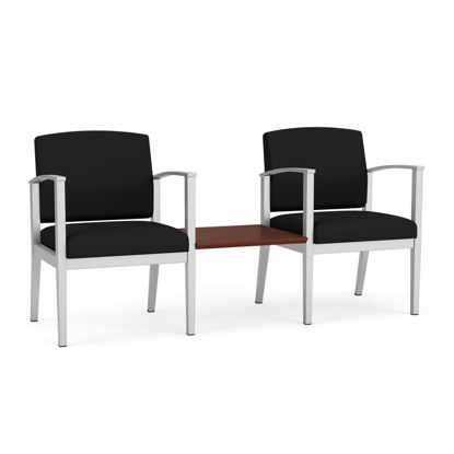 Picture of Amherst Steel 2 Chairs w/Connecting Center Table