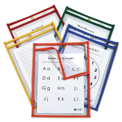 Picture of C-Line® Reusable Dry Erase Pockets