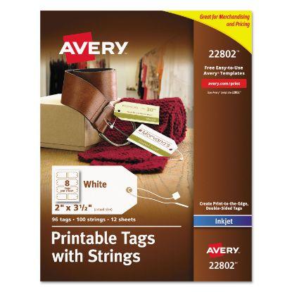 Picture of Avery® Printable Tags with Strings