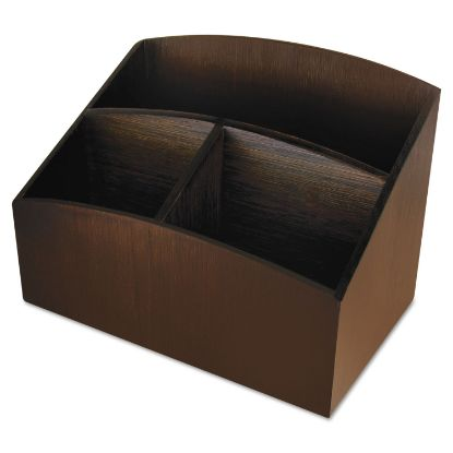 Picture of Artistic® Eco-Friendly Bamboo Curves Desk Organizer