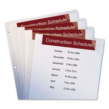 Picture of Avery® Corner Lock® 3-Hole Punched Plastic Sleeves