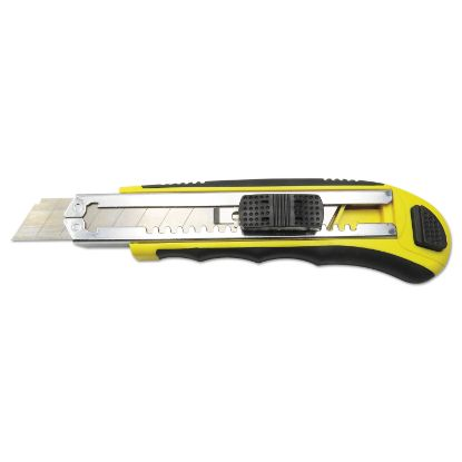 Picture of Boardwalk® Rubber-Gripped Retractable Snap Blade Knife