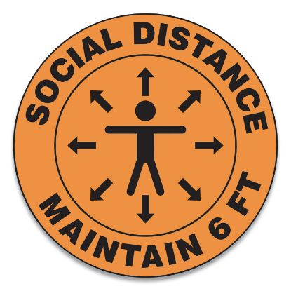Picture of Accuform® Slip-Gard™ Social Distance Floor Signs