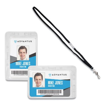 Picture of Advantus Antimicrobial ID & Security Badge and Lanyard Combo Pack