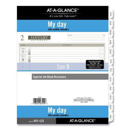 Picture of 1-Page-Per-Day Planner Refills, 11 x 8.5, White, 2021