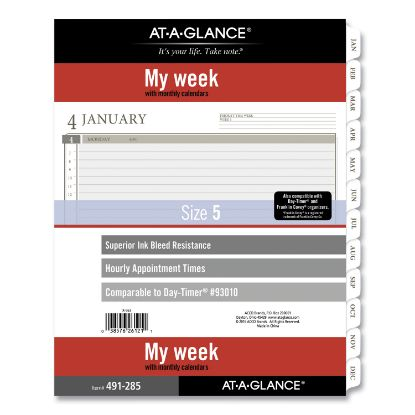 Picture of 2-Page-Per-Week Planner Refills, 11 x 8.5, White, 2021