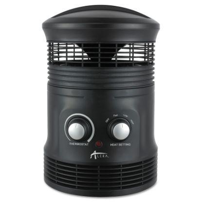"Picture of 360 Deg Circular Fan Forced Heater, 8"" x 8"" x 12"", Black"