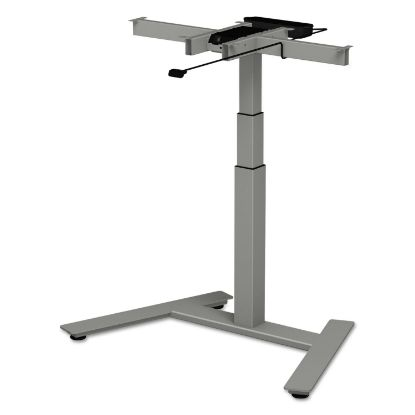 """Picture of AdaptivErgo 1-Column Electric Adjustable Table Base, 24.75"""" to 43.25""""H, Gray"""