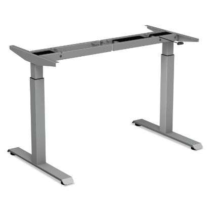 """Picture of 2-Stage Electric Adjustable Table Base, 27.5"""" to 47.2"""" High, Gray"""