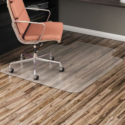 Picture of All Day Use Non-Studded Chair Mat for Hard Floors, 45 x 53, Wide Lipped, Clear