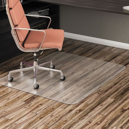 Picture of All Day Use Non-Studded Chair Mat for Hard Floors, 46 x 60, Rectangular, Clear