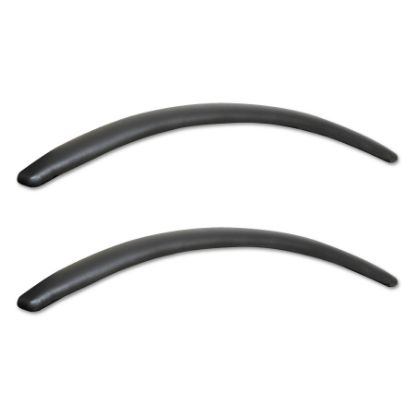Picture of Alera Neratoli Series Replacement Arm Pads, Leather, 1.77w x .59d x 15.15h, Black, 1 Pair