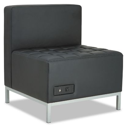 Picture of Alera QUB Series Powered Armless L Sectional, 26.38w x 26.38d x 30.5h, Black