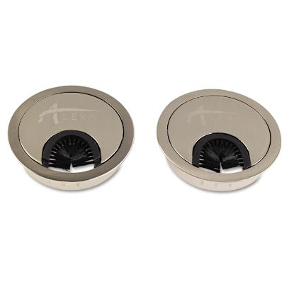 """Picture of Alera Valencia Series Optional Grommets, 2.63"""" Diameter, Silver Metal, 2/Pack"""