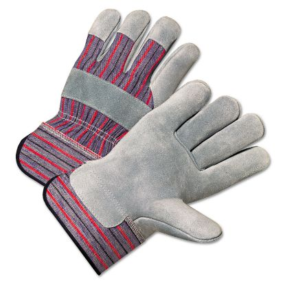 Picture of 2000 Series Leather Palm Gloves, Gray/Red, Large, 12 Pairs