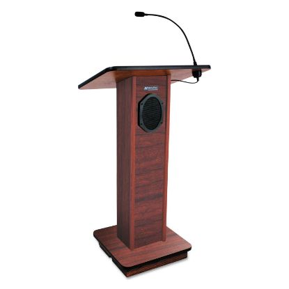 Picture of Elite Lecterns with Sound System, 24w x 18d x 44h, Mahogany