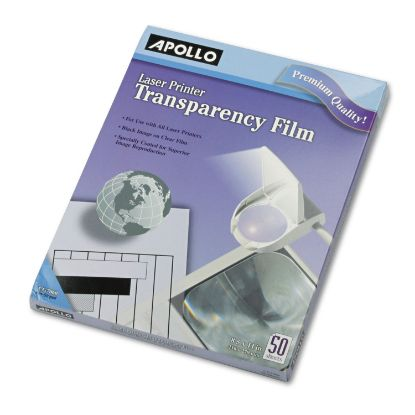 Picture of B/W Laser Transparency Film, Letter, Clear, 50/Box