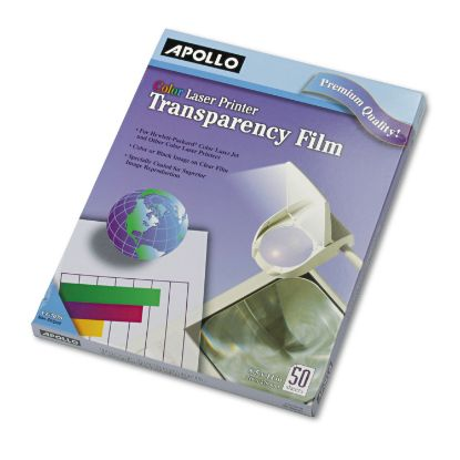 Picture of Color Laser Transparency Film, Letter, Clear, 50/Box