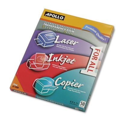 Picture of Color Laser/Inkjet Transparency Film, Letter, Clear, 50/Box