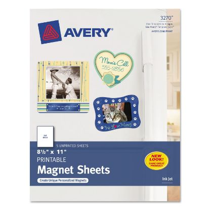Picture of Printable Magnet Sheets, 8.5 x 11, White, 5/Pack