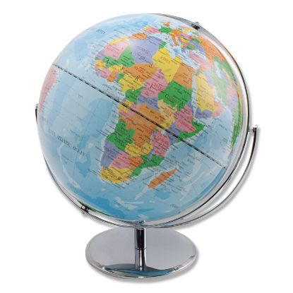 Picture of 12-Inch Globe with Blue Oceans, Silver-Toned Metal Desktop Base,Full-Meridian
