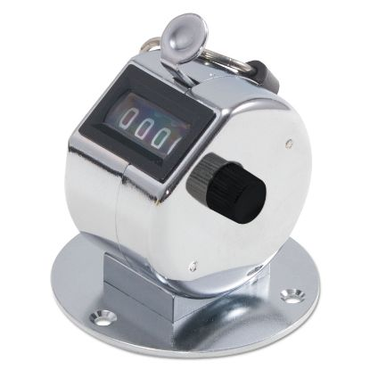 Picture of Tally II Desk Model Tally Counter, Registers 0-9999, Chrome
