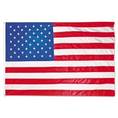 Picture of All-Weather Outdoor U.S. Flag, Heavyweight Nylon, 5 ft x 8 ft