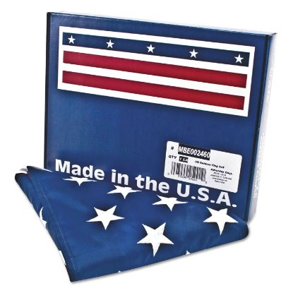 Picture of All-Weather Outdoor U.S. Flag, Heavyweight Nylon, 3 ft x 5 ft