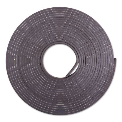 """Picture of Adhesive-Backed Magnetic Tape, Black, 1/2"""" x 10ft, Roll"""