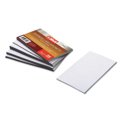 Picture of Business Card Magnets, 3 1/2 x 2, White, Adhesive Coated, 25/Pack