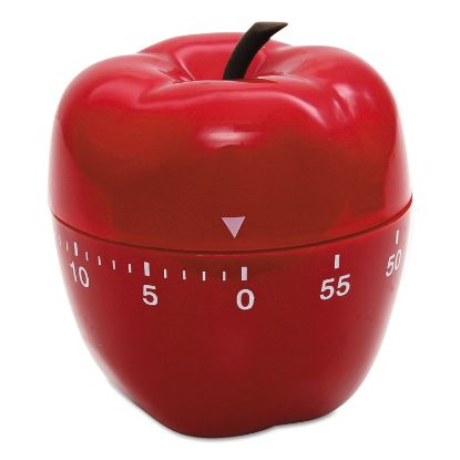 """Picture of Shaped Timer, 4"""" dia., Red Apple"""